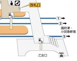御殿場駅見取り図